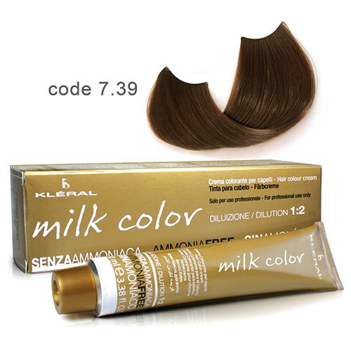 Kleral Milk Color Ammonia Free Colouring Cream 7.39 100ml-Μαλλιά-Kleral-IKONOMAKIS