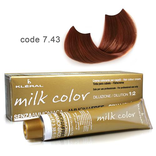 Kleral Milk Color Ammonia Free Colouring Cream 7.43 100ml-Μαλλιά-Kleral-IKONOMAKIS