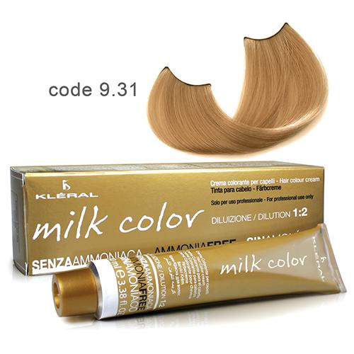 Kleral Milk Color Ammonia Free Colouring Cream 9.31 100ml-Μαλλιά-Kleral-IKONOMAKIS