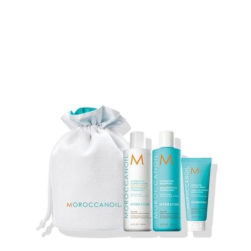 Moroccanoil Beauty in Bloom Hydration Set (Σαμπουάν 250ml, Conditioner 250ml, Hydrating Styling Cream 75ml)-Μαλλιά-Moroccanoil-IKONOMAKIS