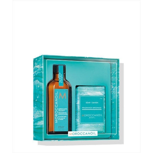 Moroccanoil Home and Away 2019 Set (Τreatment 100ml + Soap)-Μαλλιά-Moroccanoil-IKONOMAKIS