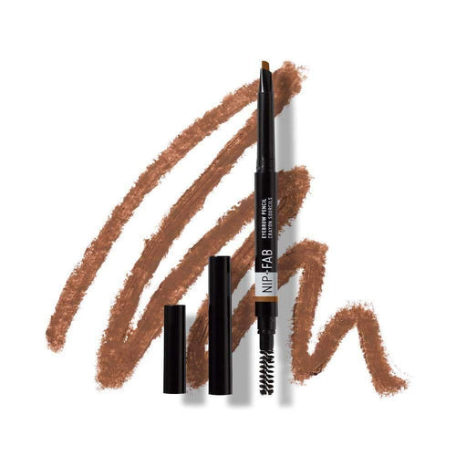 Nip+Fab Eyebrow Pencil Brown 0.3g-MAKEUP-Nip+FAB-IKONOMAKIS