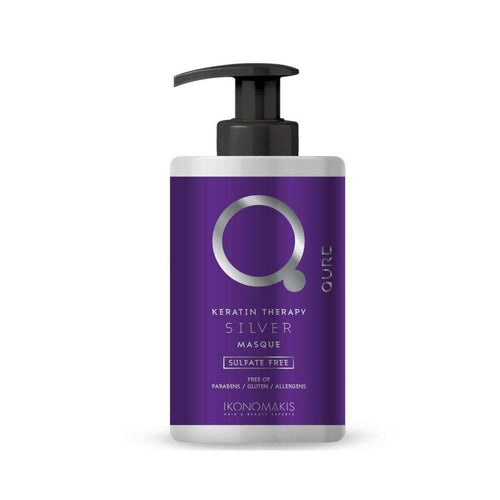 Qure Keratin Therapy Silver Mask by ikonomakis 300ml-Μαλλιά-IKONOMAKIS-IKONOMAKIS