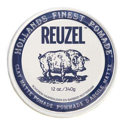 Reuzel Clay Matte Pomade Hog Water Soluble 340gr-Άντρες-Reuzel-IKONOMAKIS