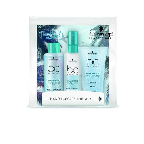 Schwarzkopf Professional BC Hyaluronic Moisture Kick Travel Kit (shampoo 100ml, spray conditioner 100ml, mask 75ml)-Μαλλιά-Schwarzkopf Professional-IKONOMAKIS