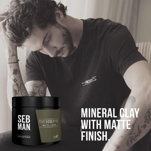 Sebastian Professional Seb Man The Sculptor Matte Clay 75ml-Μαλλιά-Sebastian Professional-IKONOMAKIS