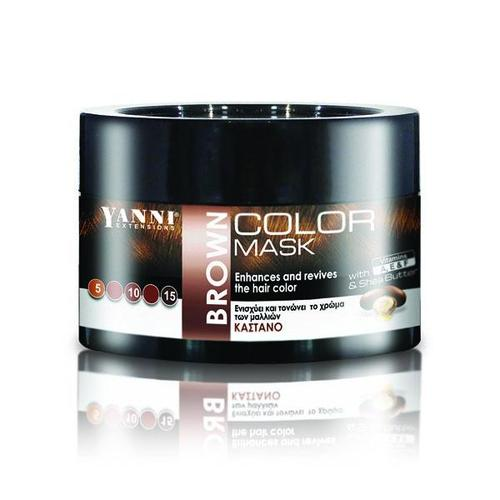 Yanni Color Mask Brown 250ml-Μαλλιά-YANNI-IKONOMAKIS