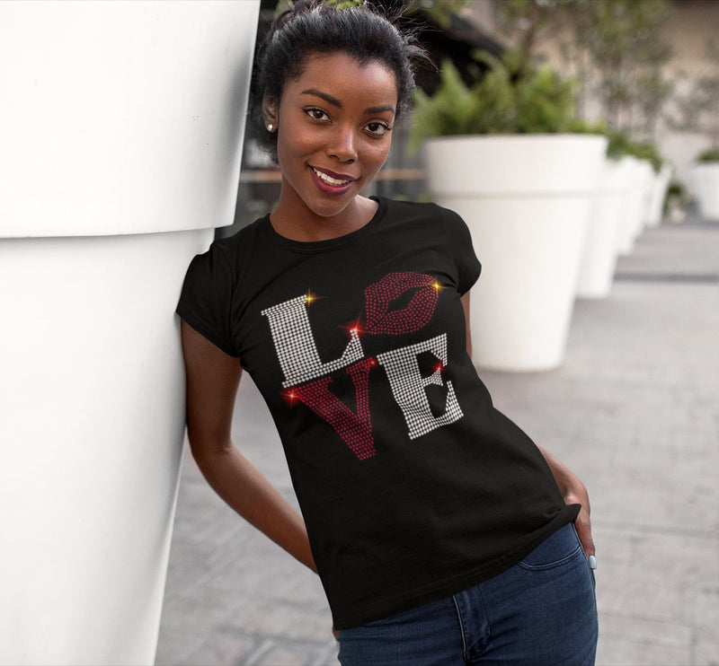 Love Rhinestone t-shirt