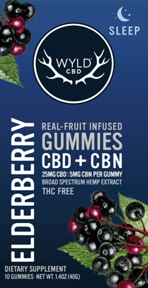 Wyld CBD+CBN Gummies Elderberry