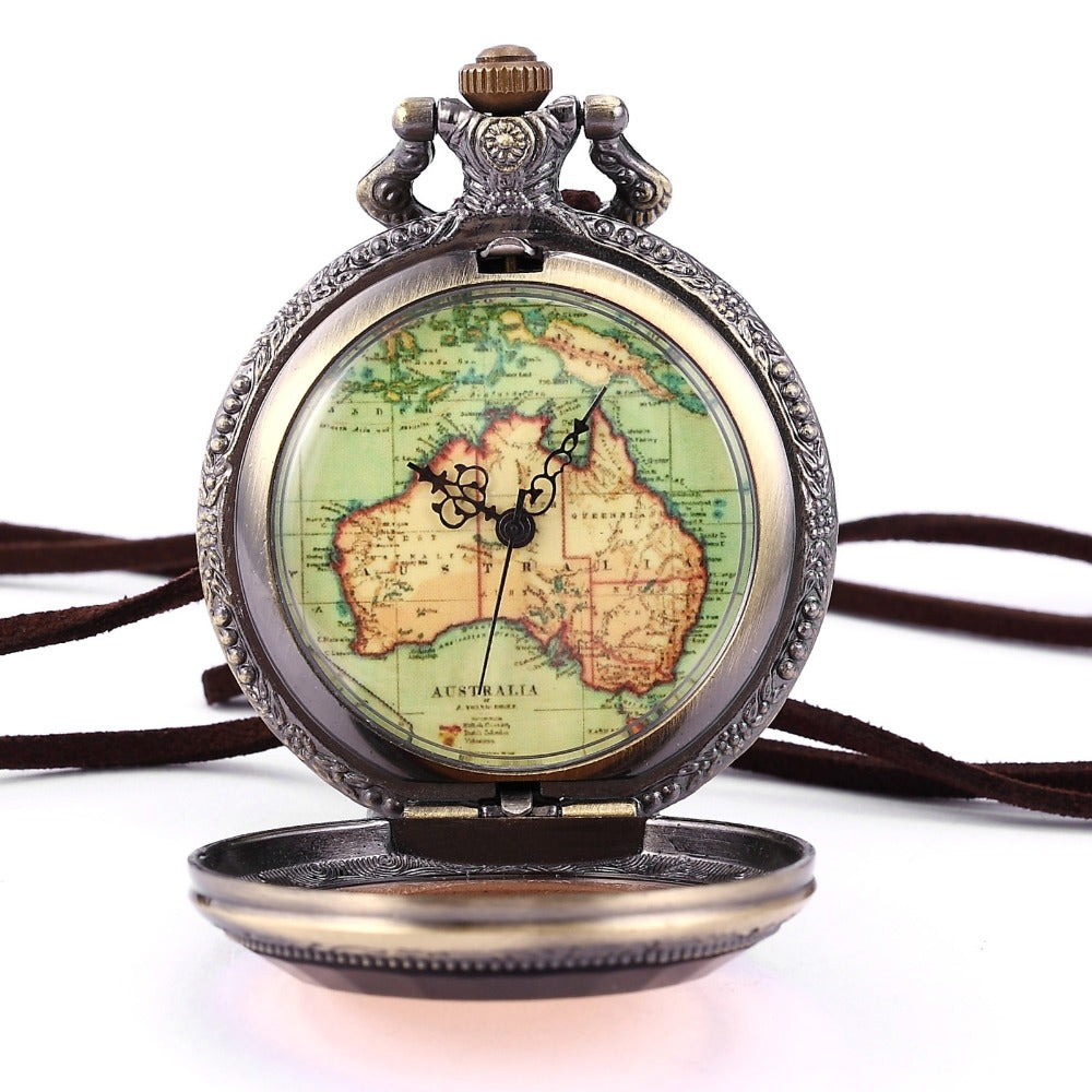 Vintage Bronze Australia Map Watch