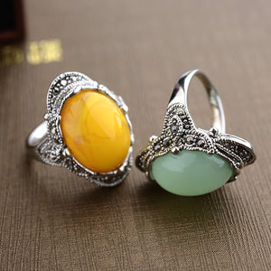 Oval Aventurine Ring