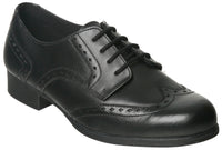 Term Meghan Brogue Black Leather