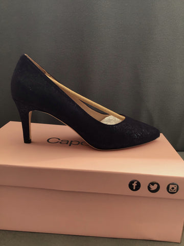 Capollini Izzy Navy Court Shoe