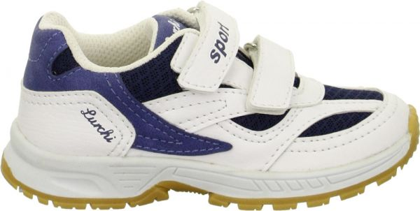 Lurchi Matti White/Navy Trainer