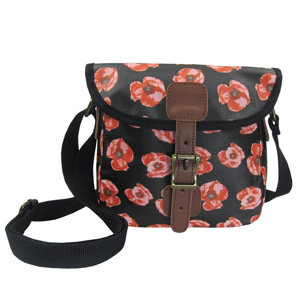 Red cuckoo poppy cross body bag