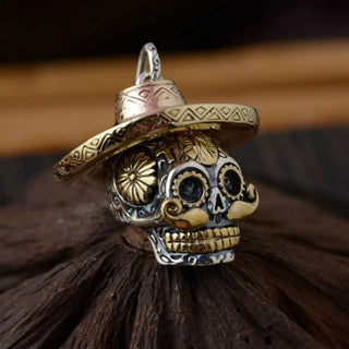 Ride Now Or Never Badass Mexican Sterling Silver Sugar Skull Necklace Pendant Jewelry