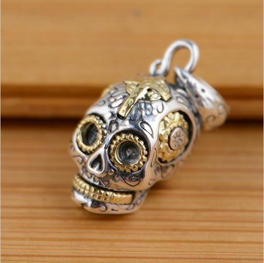 Ride Now Or Never Default Title Sterling Silver Sugar Skull Necklace Pendant Jewelry