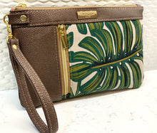 Double Zip Clutch - Monstera