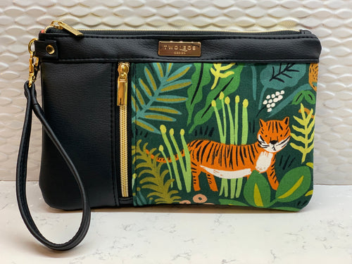 Double Zip Clutch - Jungle Hunter