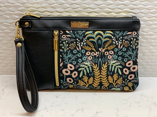 Double Zip Clutch - Midnight