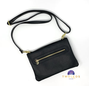 Leather Bend & Snap Clutch