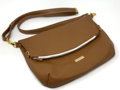 Luxe Leather Foldover Satchel