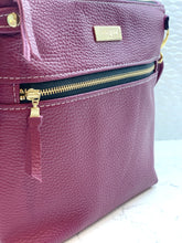 The Double Zip Crossbody - Berry