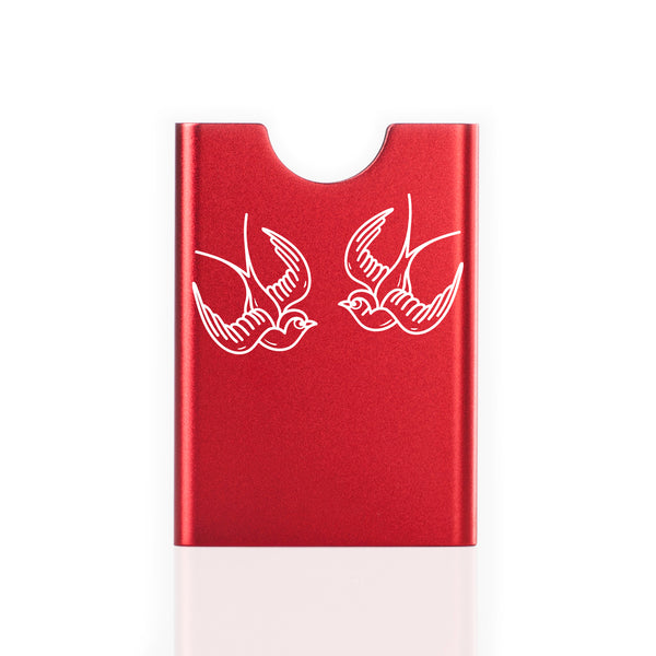 Thin King credit card case - Red Sparrow