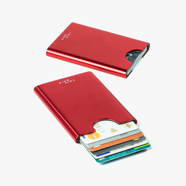 Thin King credit card case - Ruby Red - Thin King card case