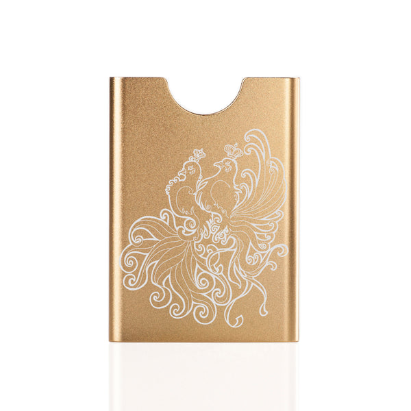 Thin King credit card case - Turtle Doves - champagne
