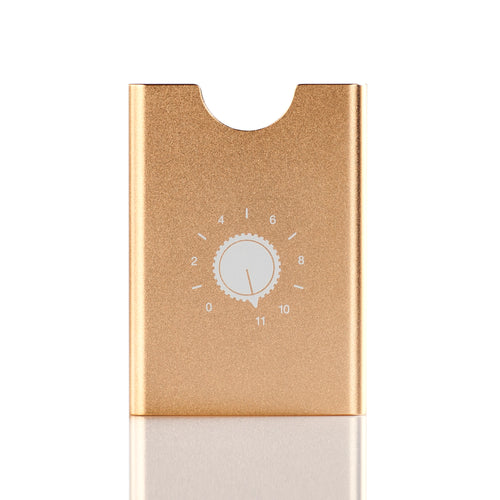 Thin King credit card case  Champagne with Goes up 11  graphics