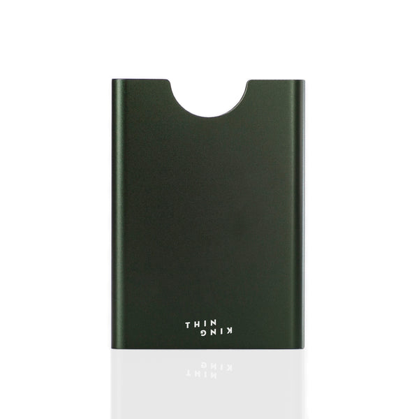 Bullitt Green Thin King card holder on a white background