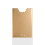 Thin King metal card case in champagne colour