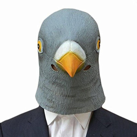 Latex Halloween Pigeon Mask