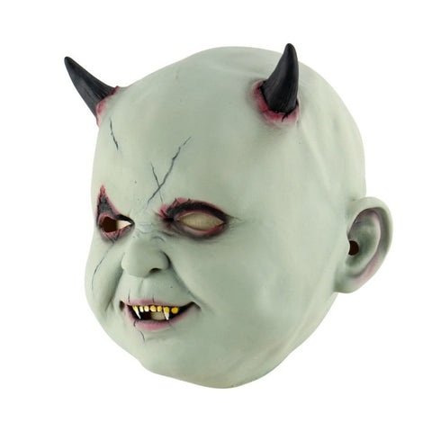Latex Halloween Demon Baby Mask
