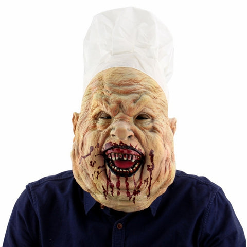 Latex Halloween Horror Chef Mask