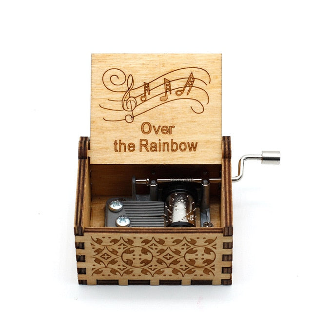 Wooden Carving Hand-crafted Music Box