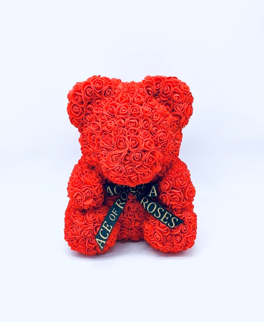 Large Rose Bear (Faux)