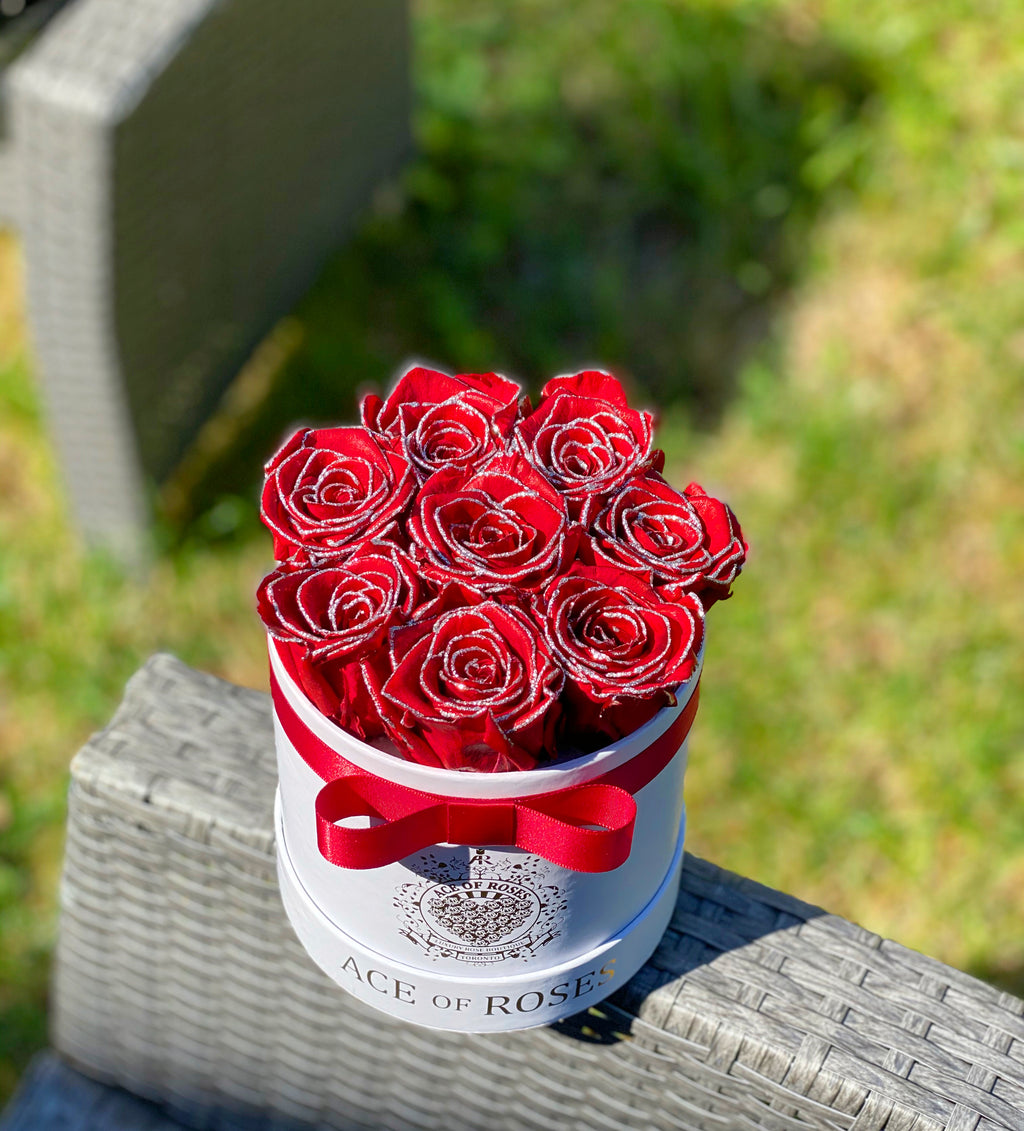 Limited Edition RED Glitter Dipped Roses