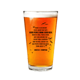 Flying Dog Pint Glass Hunter S Thompson