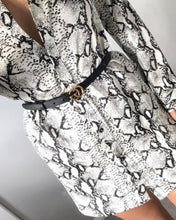 Load image into Gallery viewer, White Snake Print Dress