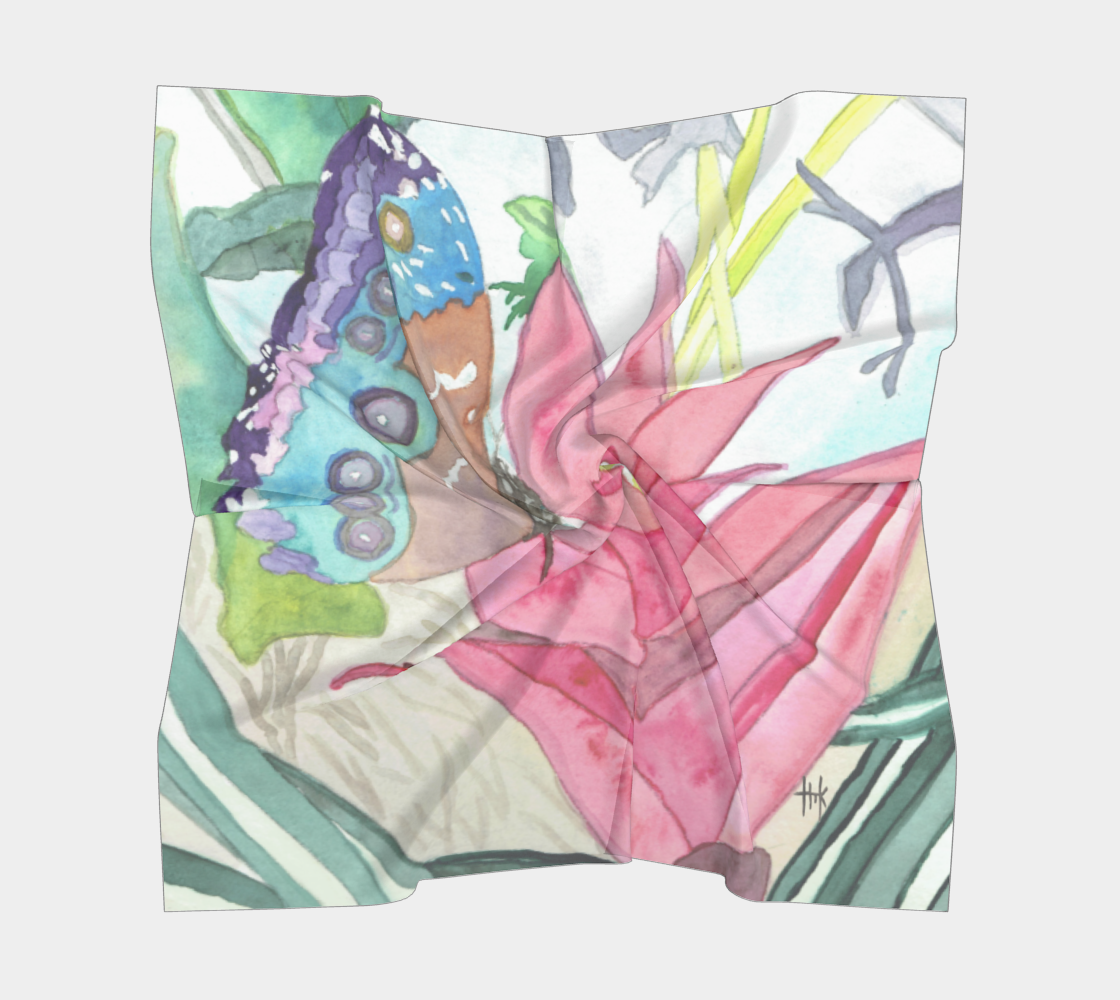 Square Scarf - Beautiful Butterfly