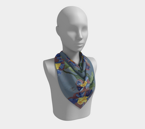 Square Scarf - Floral Vines
