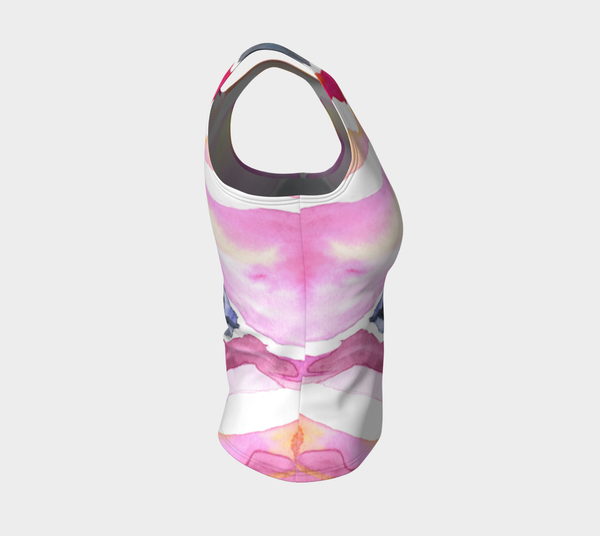 Fitted Tank - Psychedelic Spray