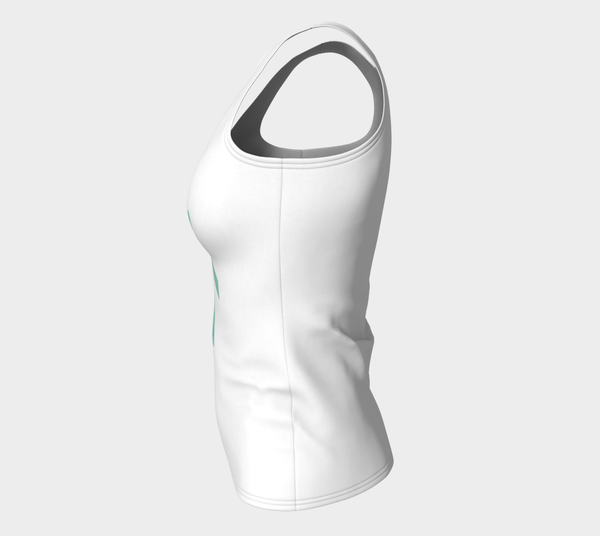Fitted Logo Tank (Long Fit) - Skyline