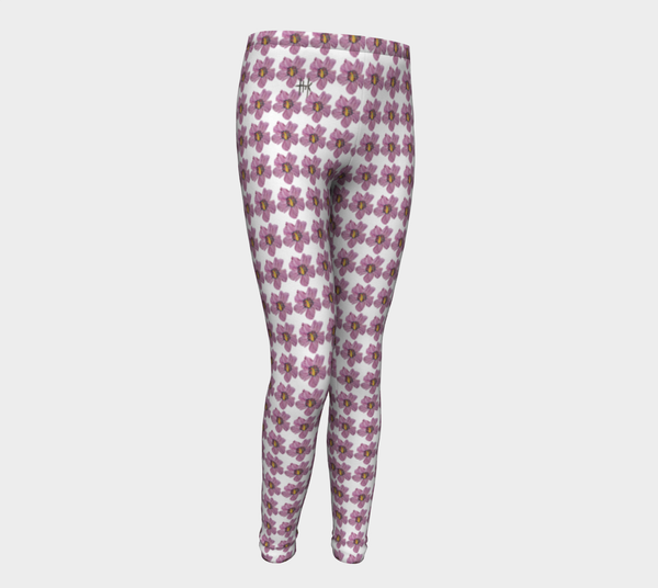 Youth Leggings - Fuchsia Flares