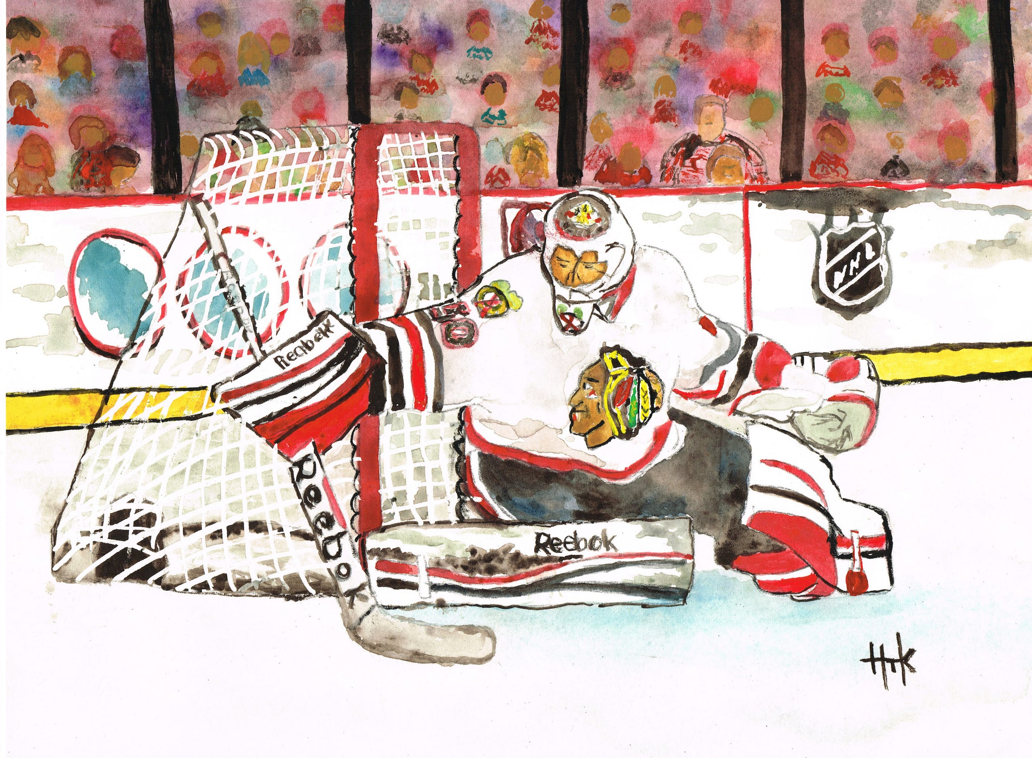BLACKHAWKS CRAWFORD - PRINT