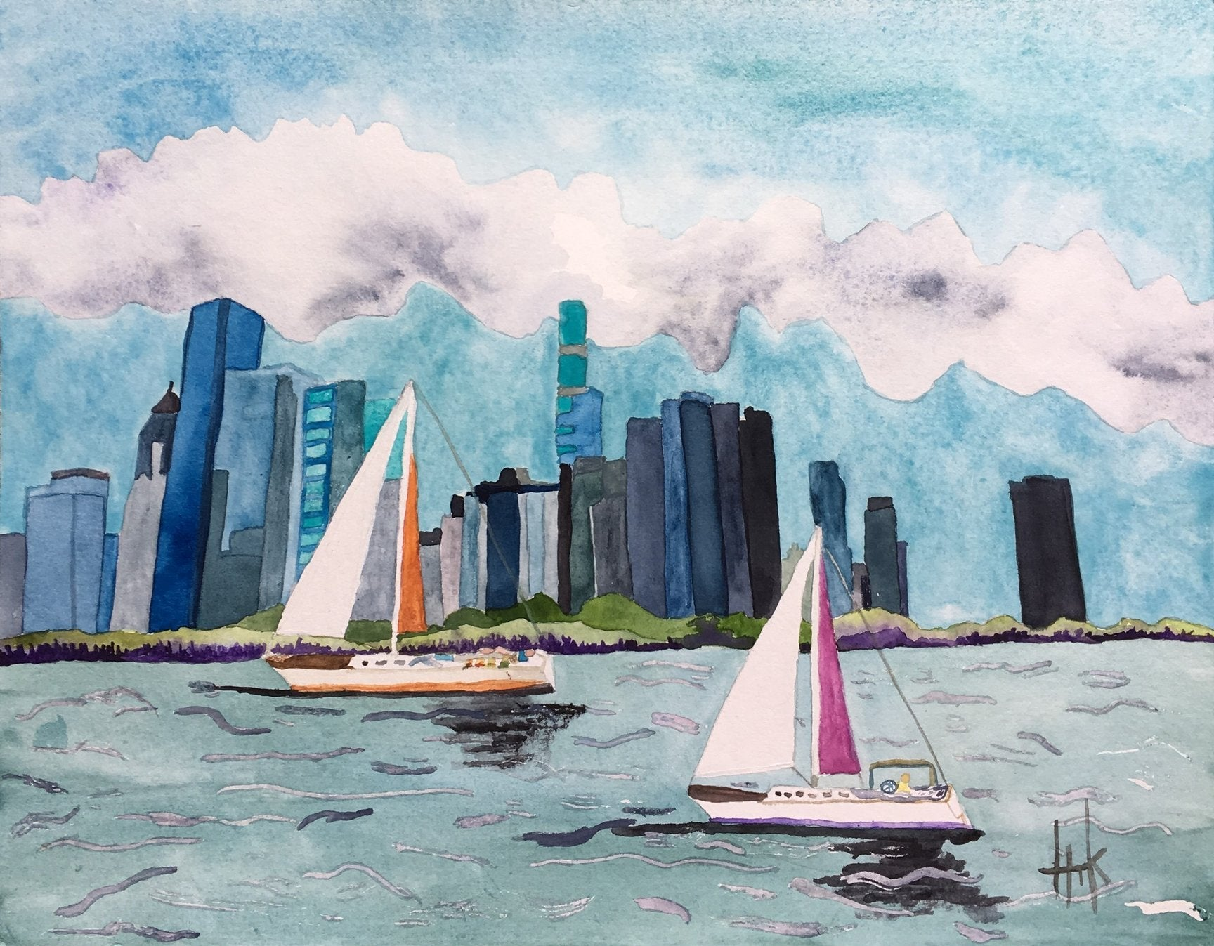 CHICAGO SAILING - PRINT