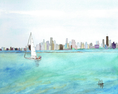 CHICAGO SKYLINE - CARDS