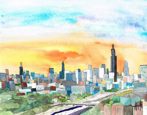 CHICAGO SUNRISE - PRINT